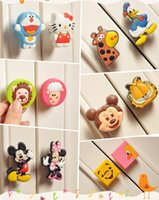 cabinet knobs - Colorful Soft Rubber PVC Cartoon Cabinet Wardrobe Drawer Pull Handle knob for Children baby Room child protection knob handle