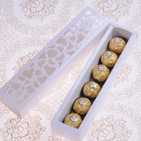 Wholesale cm Openwork Macaron Chocolate Cookie Cake Package Paperbpard Box Christmas Birthday Party Wedding Gift Box