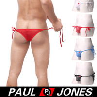 adjustable saw - Hot Selling Adjustable size Lace up Mens Underwear Spandex Breathable Briefs Sexy See Through Mens Briefs CL8119