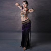 Cheap Belly Dancing tribal costume Best Embroidered Cotton belly dance costume
