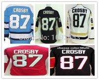 jerseys for kids - Youth Pittsburgh Hockey Jerseys Sidney Crosby Jersey Kids Home Black Road White Ice Hockey Jersey For Boys Children