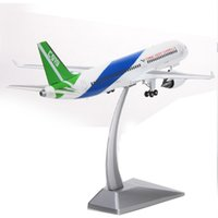 Wholesale COMAC C919 airliner aircraft model alloy model airplane aviation business gift ornaments gift