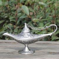 aladdin crafts - Metal Vintage tea pot home decoration pewter plated craft retro gifts Aladdin Lamp with exquisite designs