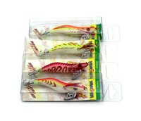 Wholesale 20pcs Promotion Peisca Artificial squid hook Fishing lures Squid Jigs Lures Squid Jigs Hook Mixed squid lure