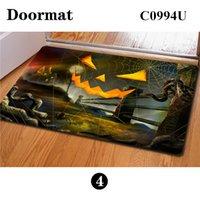 amazing front doors - New Arrival Novelty Halloween Party Decoration Floor Mats Pumpkin Lantern Printing Front Entrance Door Mats Amazing Home Decor
