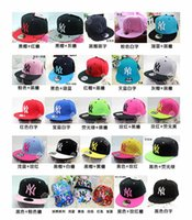 Wholesale 2015 Hot Fashion Hip Hop Cap Adjustable Baseball Cap Flat Brimmed Hat BOY Men Yankees Hat Street Scene Tide Paternity