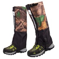 Wholesale 2Pcs Layers Outdoor Waterproof Hiking Hunting Camouflage Gaiters Skiing Walking Shin Leg Protector Equipment
