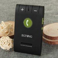 Wholesale 10Pcs EGTONG E Portable Multi point Sun Visor Clip on Wireless Bluetooth Hands free Car Kit Speakerphone w Cigarette Lighter Black