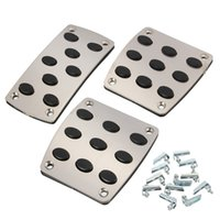Wholesale Brand New Auto Manual Car Gas Brake Metal Pedal Non Slip Covers Pedals Pads Footrests Hot Sale