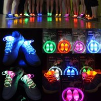Wholesale Shoe Laces Sport Pair Fashion CM LED Glow Shoelaces Luminous Laces Flash Light Up Strap Party Shoe Accessories In Stock L001