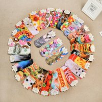 Wholesale 3D Printed Socks Unisex Cute Low Cut Ankle Socks Multiple Colors Cotton sock Women s Casual Charactor Socks