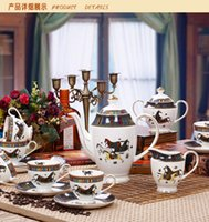 Wholesale 15 coffee set ceramic gifts European coffee cup saucer ECO Friendly China English afternoon tea set coffee mug