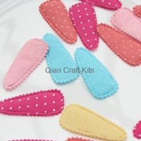 baby clips for fine hair - 800pcs pastel polka dots Baby Snap Clips covers applique mm perfect for fine hair clips not included