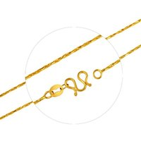 Wholesale 14k Korean Yellow Gold Rope Chain Woman Necklace Gilt