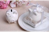 baby shower money - Li l Saver Favor Ceramic Mini Piggy Wedding Favor Wedding Gift Baby gift Money Bank baby shower favor