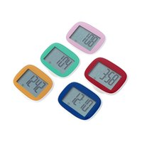Wholesale LCD Display Pedometer Big Screen Calorie Step Counter Multi Function Walking Movement Distance Digital Sports Pedometer
