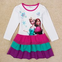 Wholesale frozen dress kid baby children girl dress Princess dress chiffon fabric cute fashion