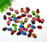 bathroom wood fitting - Mixed Wood Cute Beetles Flatback Cabochon Scrapbooking Crafts Fit Phone Embellishment x9mm order lt no tracking