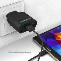 Wholesale Aukey Qualcomm Quick Charge W USB Turbo Wall Charger Fast Charge for Samsung Galaxy S6 Sony HTC Xiaomi Micro USB Cable