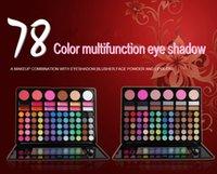 Wholesale 3pcs Hot selling Color Cosmetics Palette Blusher Eye Shadow Face Powder Lipglosses Color Makeup Combination Palatte