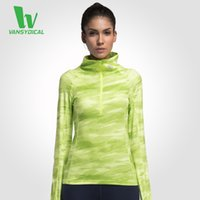 Wholesale Women s Yoga Shirts Long Sleeve Running Shirts Tops Compression Tights Sportswear Fitness Workout Quick Dry Breathable Shirts