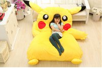 Wholesale PIKACHU design big sofa m m PIKACHU dedpika bed PIKACHU SLEEPING BAG totoro bed Cute Giant Rilakkuma cushion bed looks