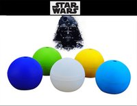 Wholesale Star Wars silicone Star Trek Star God Death Star Ice Sphere Mold Silicone Ice Cube blue Stars wars ice mould