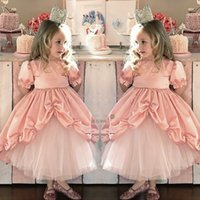Wholesale Pink Cinderella Dresses Kids Court Lace Princess Prom Tutu Dresses Baby Childrens Clothing For Birthday Party