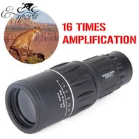 Wholesale Dual Focus with Green Film Sports Hunting Concert Spotting Scope Monocular Double Adjustable Telescope