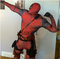red zentai catsuit - New HOT The Avengers Deadpool Cosplay Costumes Zentai Catsuit Costumes Men Lycra Breathable Tights Fancy costumes