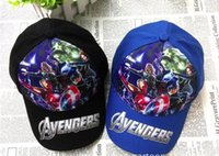 Wholesale Avengers spider man children baseball cap beanies Ninja turtle kids cartoon caps hats toy story boys hats