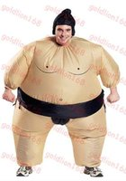 adult sumo suits - Brand new Funny Unisex Adult Costume For Halloween Inflatable Blown Up Sumo Wrestling Suits One Size Carnival Parade Costumes