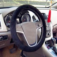 Wholesale Car Steering Wheel Covers Warm plush For winter car Accessories colors Car decoration High Quality Short Plush Super SoftJJ160
