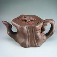 big clay pots - On sale cc Yixing purple clay teapot ore grade pot Plum big teapot china teasets