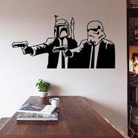 Wholesale FreeDHL Star wars wall sticker Unisex PVC Rooms Decal Removable wallpaper Star Wars Wall sticker Jedi Knight Darth Vader Sticker E283L
