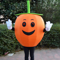 apple pumpkin - pumpkin high quality Orange fruit whimsy apple mascot costume fancy dress adult size x mas party Halloween