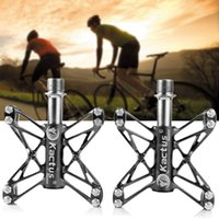 Wholesale 2015 Kactus KTPD C Mountain Bike Pedals MTB BMX Flat Bearings Ultralight Bicycle Bike Pedals Steel MTB Road Cycling Sealed