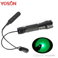 Wholesale Green Lights B XPE LED Max Lumen Flashlight Torches WF B Torch Remote Control Pressure Switch Controller