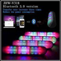 Wholesale New Kingwon Pill Speaker Led Flash Lighting JHW V318 Portable Wireless Bluetooth Speaker Bulit in Mic Handsfree Speakers Support FM USB TF