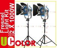 arri kit lighting - 2 x W Fresnel Tungsten Video Spot Light Kit as Arri Lighting
