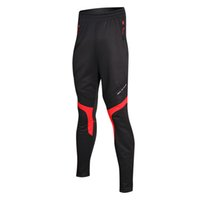 Wholesale Santic Man Cycling Pants Winter Fleece Thermal Windproof Pants Bicycle Riding Trousers Outdoor Sports Clothing