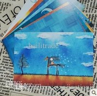 Wholesale 8 Russian Illustration Postcard Greeting Mini Cards Gift Thank You Note Lomo Card Christmas Postcards Y093