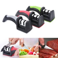 Wholesale Hot Sales Household Sharpening Stone Kitchen Storage Knife Sharpeners Stages Stainless Steel Plastic Handle CX265