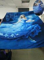 2015 Nouveau Merveilleux de Cendrillon Robe 3D Ensembles de Literie pour les petites Filles Enfants de la salle de dessin animé 3D de la literie Livraison Gratuite de Haute Qualité 100% Coton