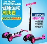 Wholesale High Quality Adjustale Mini Wheels Kick Scooter With Flashing And No Flashing