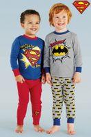 Boy Summer 90-95-100-110-120-130cm DHL freeship Children kids cotton pajamas baby boys Superman & Batman printing clothing boy casual homewear pajama pyjamas new arrival