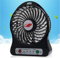 Wholesale F95B Portable Mini USB Fan Rechargeable Battery Operated LED Lamp for Indoor Outdoor Kids Table