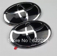 abs pmma - Toyota Prado new car Badge black Prado new Label Prado new Black front emblem after emblem toyato Prado new PMMA logo Emblems