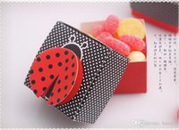 Wholesale 100Pcs Cute Ladybird Favor Boxes Wedding Candy Box Favors And Party Event Party Supplies