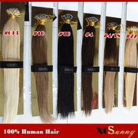 Wholesale XCSUNNY Nano Loop Malaysian Human Hair Extension g pk beads g s Nano Ring Remy Hair Extensions Nano Tip Hair Extensions